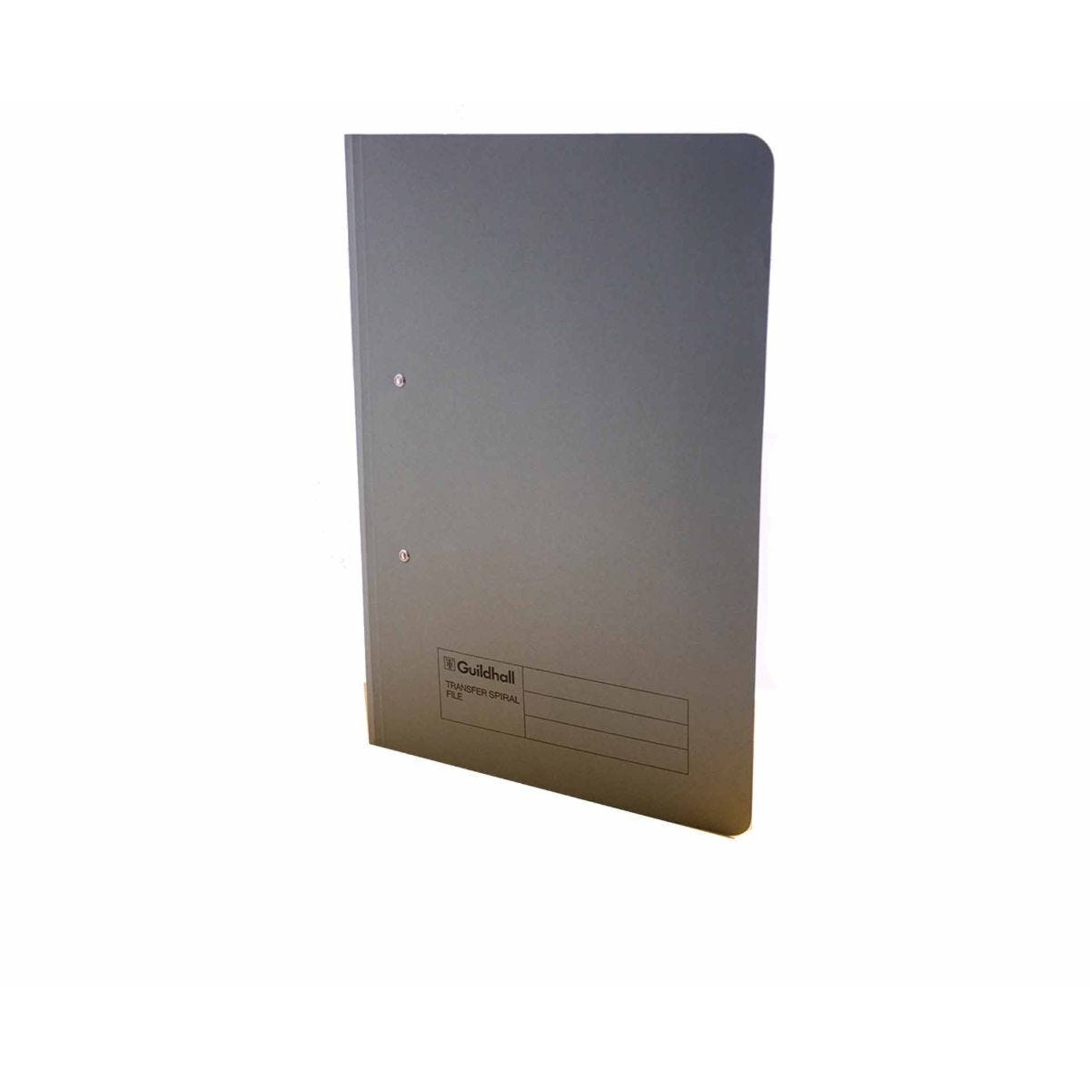Exacompta Guildhall Spiral File Foolscap Pack of 50 315gsm Grey