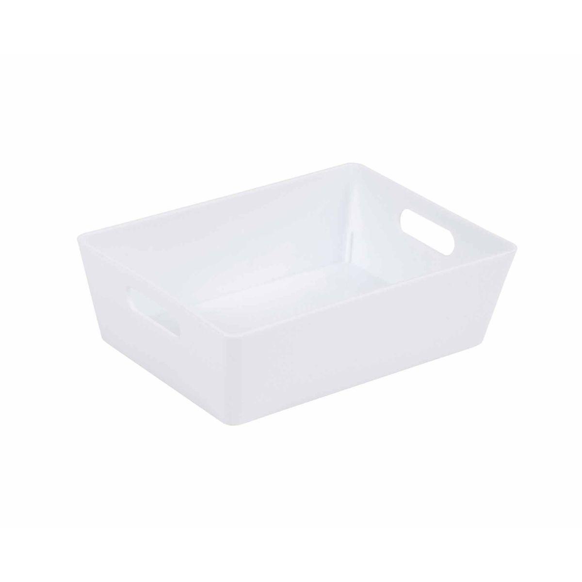Wham Studio Rectangular Basket 3.01 Pack of 12 White