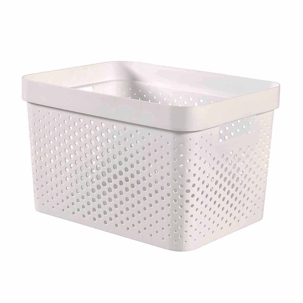 Curver Infinity Basket 17L White Pack of 5 White