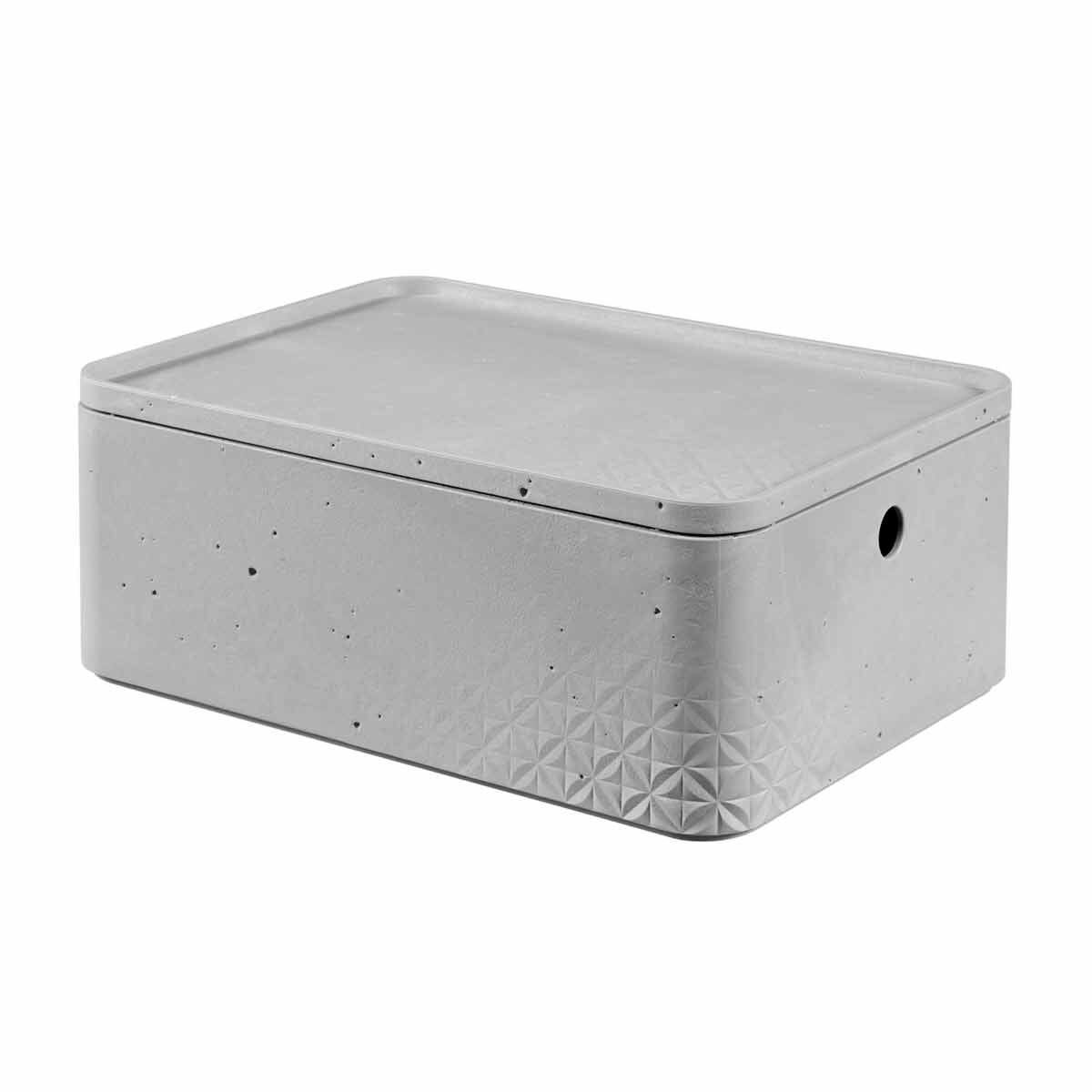 Curver Beton Storage Box with Lid 8 Litre
