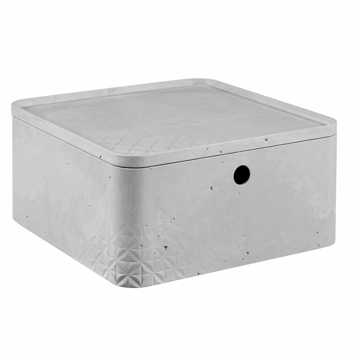 Curver Beton Storage Box with Lid 8.5 Litre