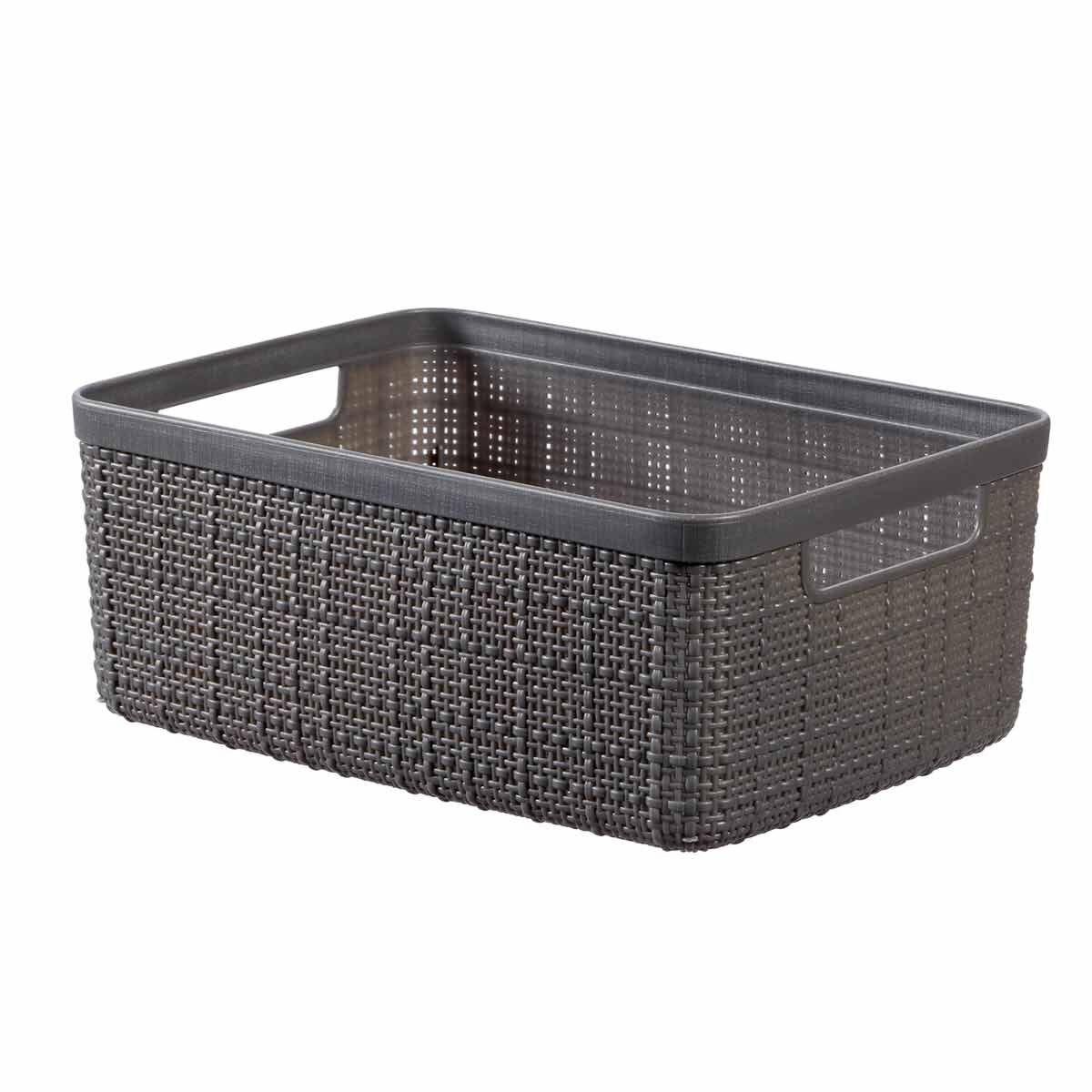 Curver Jute Storage Basket 5 Litre Grey