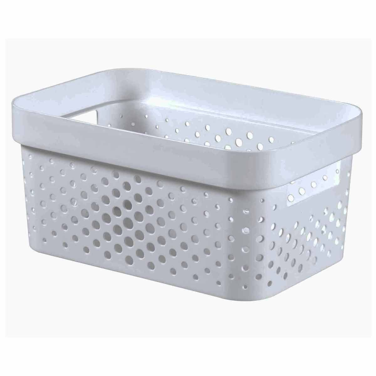 Curver Infinity Recycled Storage Basket 4.5 Litre White