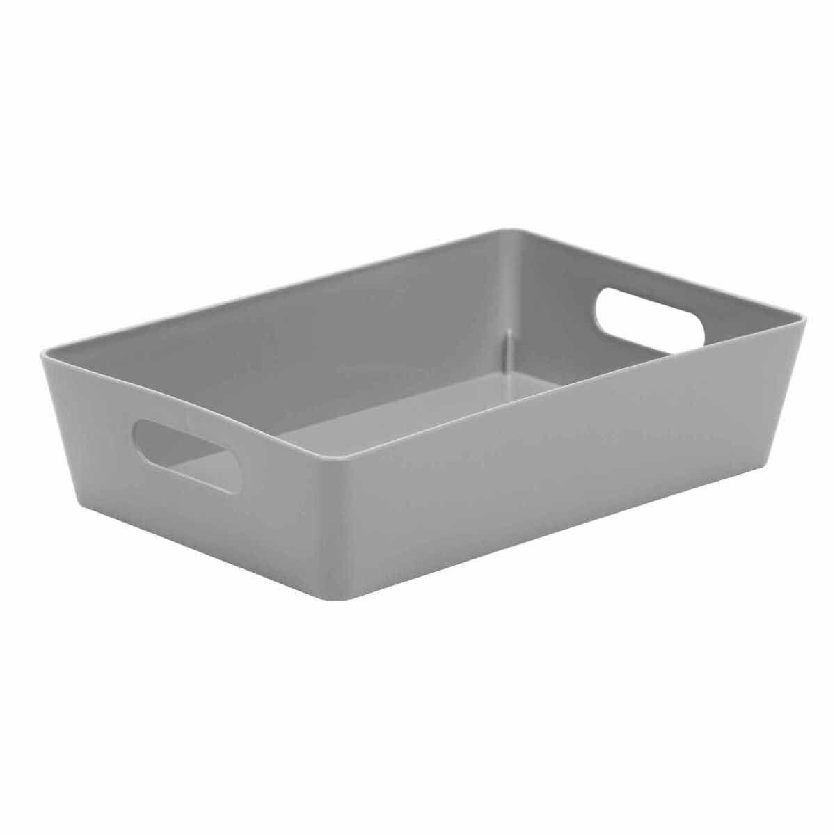 Wham Studio Rectangular Basket 4.01 Pack of 12 Grey
