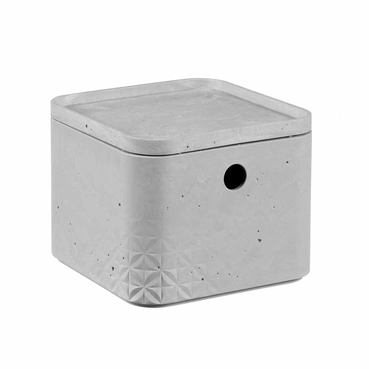 Curver Beton Storage Box with Lid 3 Litres Pack of 6