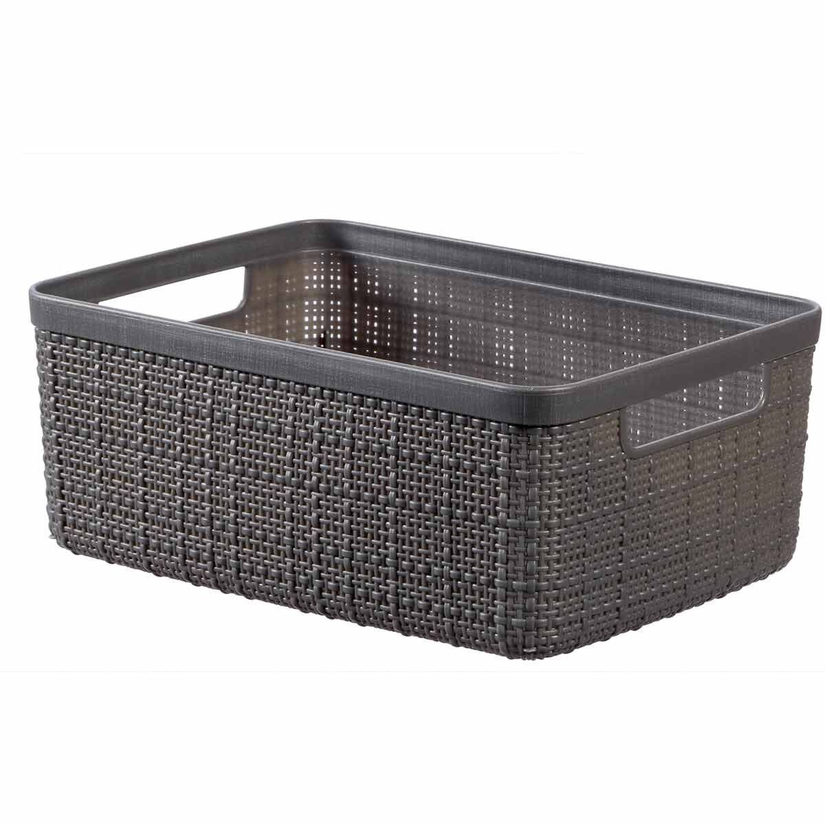 Curver Jute Storage Basket 5 Litres Pack of 6 Grey
