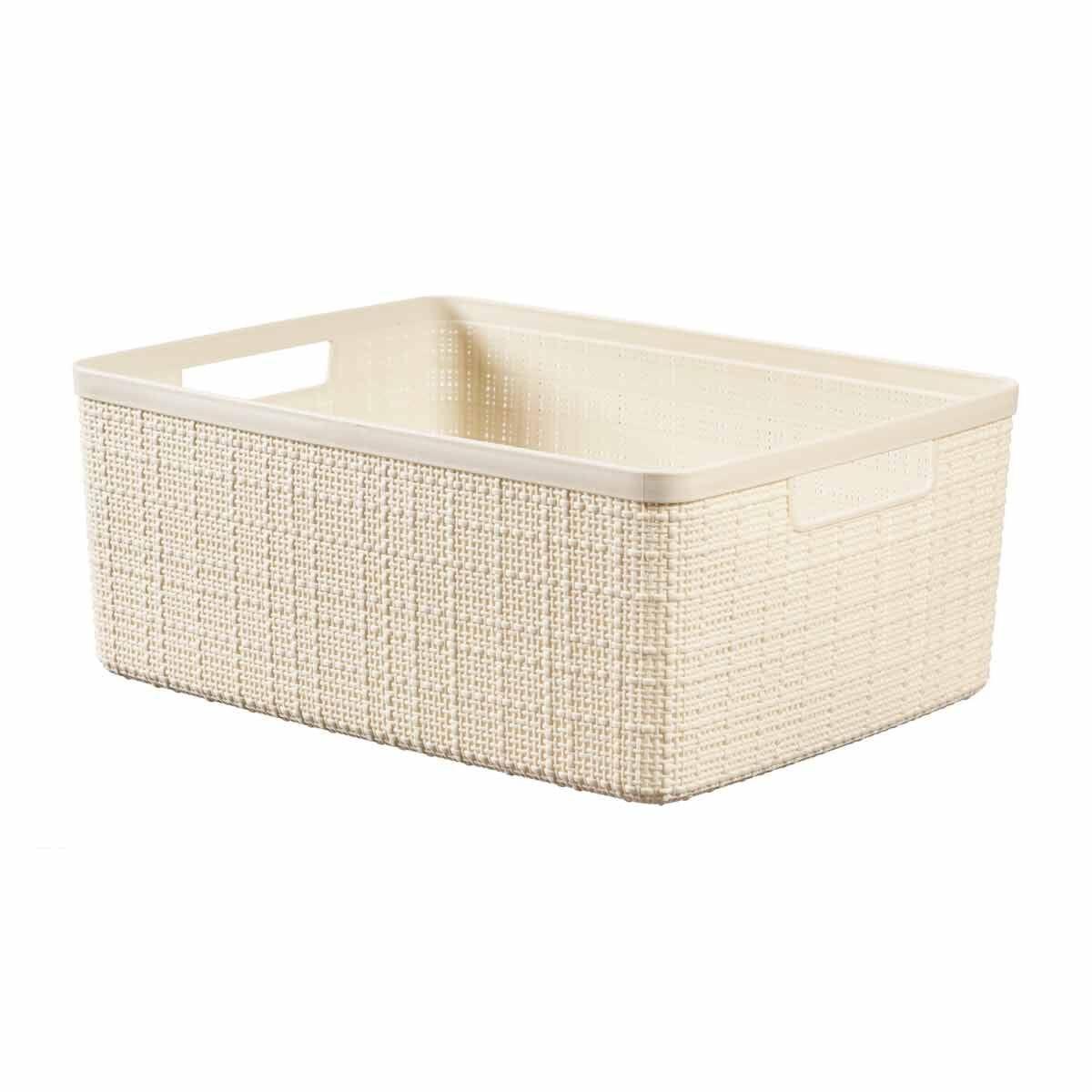 Curver Jute Storage Basket 12 Litres Pack of 6 Cream