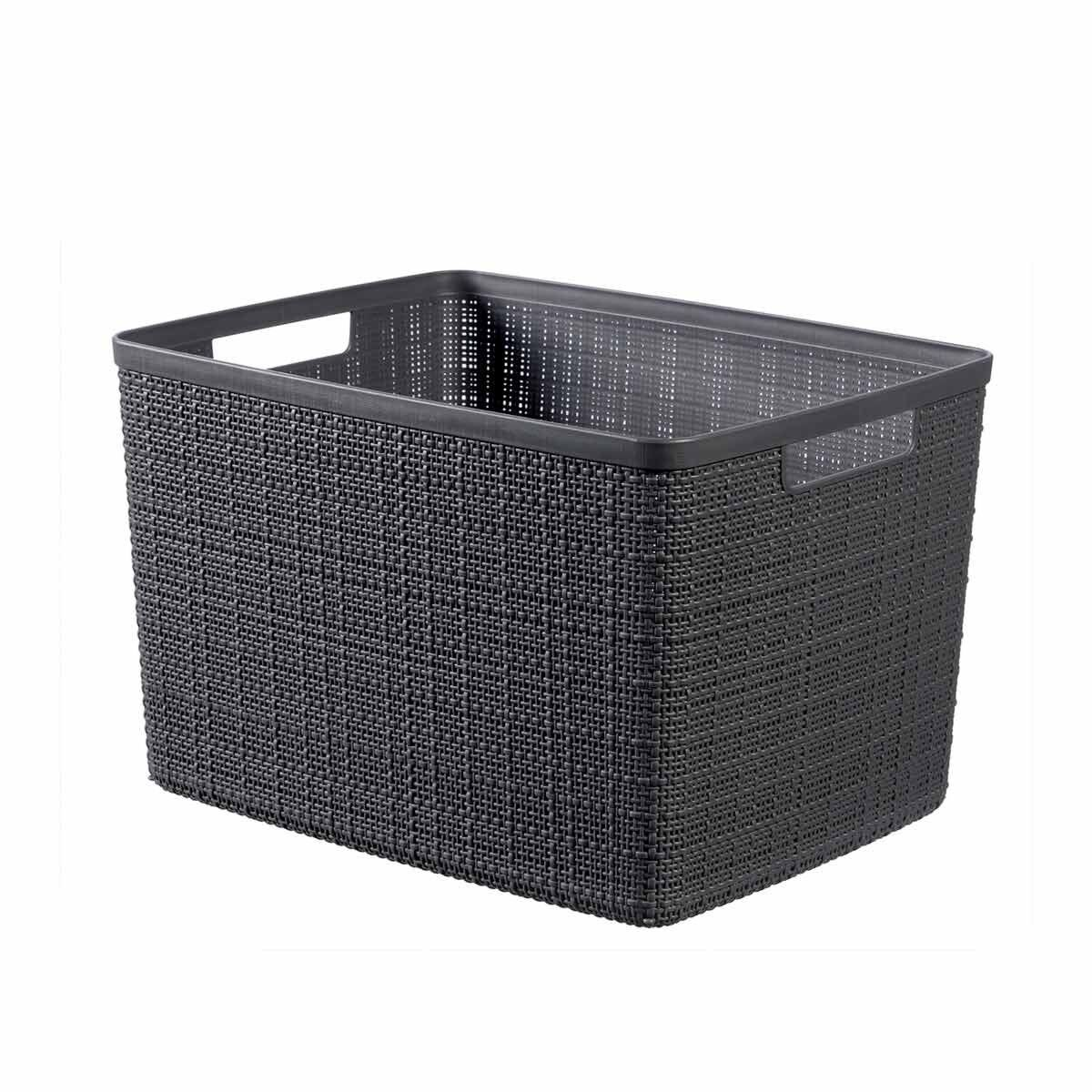 Curver Jute Storage Basket 20 Litres Pack of 6 Grey