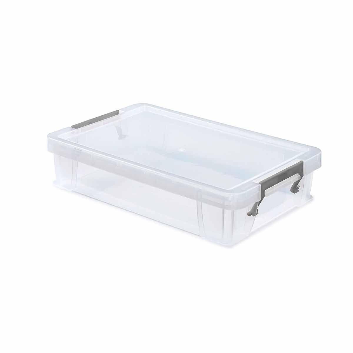 Whitefurze Allstore Plastic Storage Box 5.5 Litre