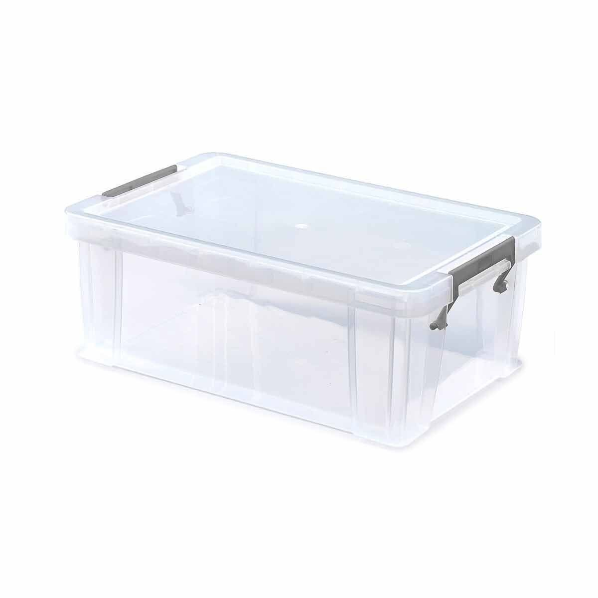 Whitefurze Allstore Plastic Storage Box 10 Litre Pack of 9