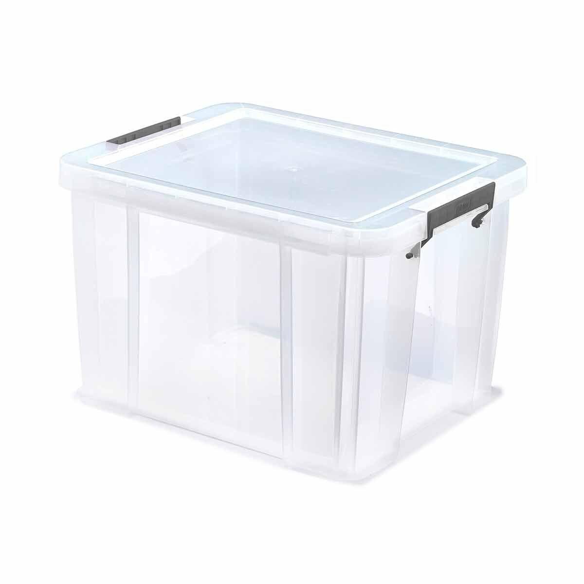 Whitefurze Allstore Plastic Storage Box 36 Litre
