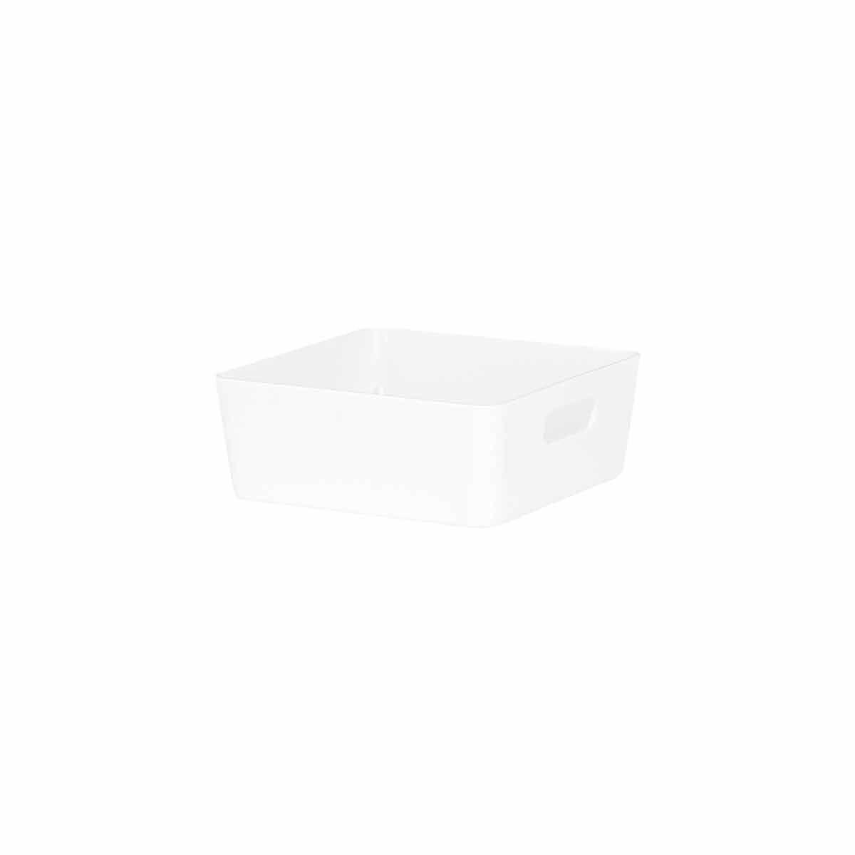 Wham Studio Rectangular Basket 13.01 Pack of 12 White