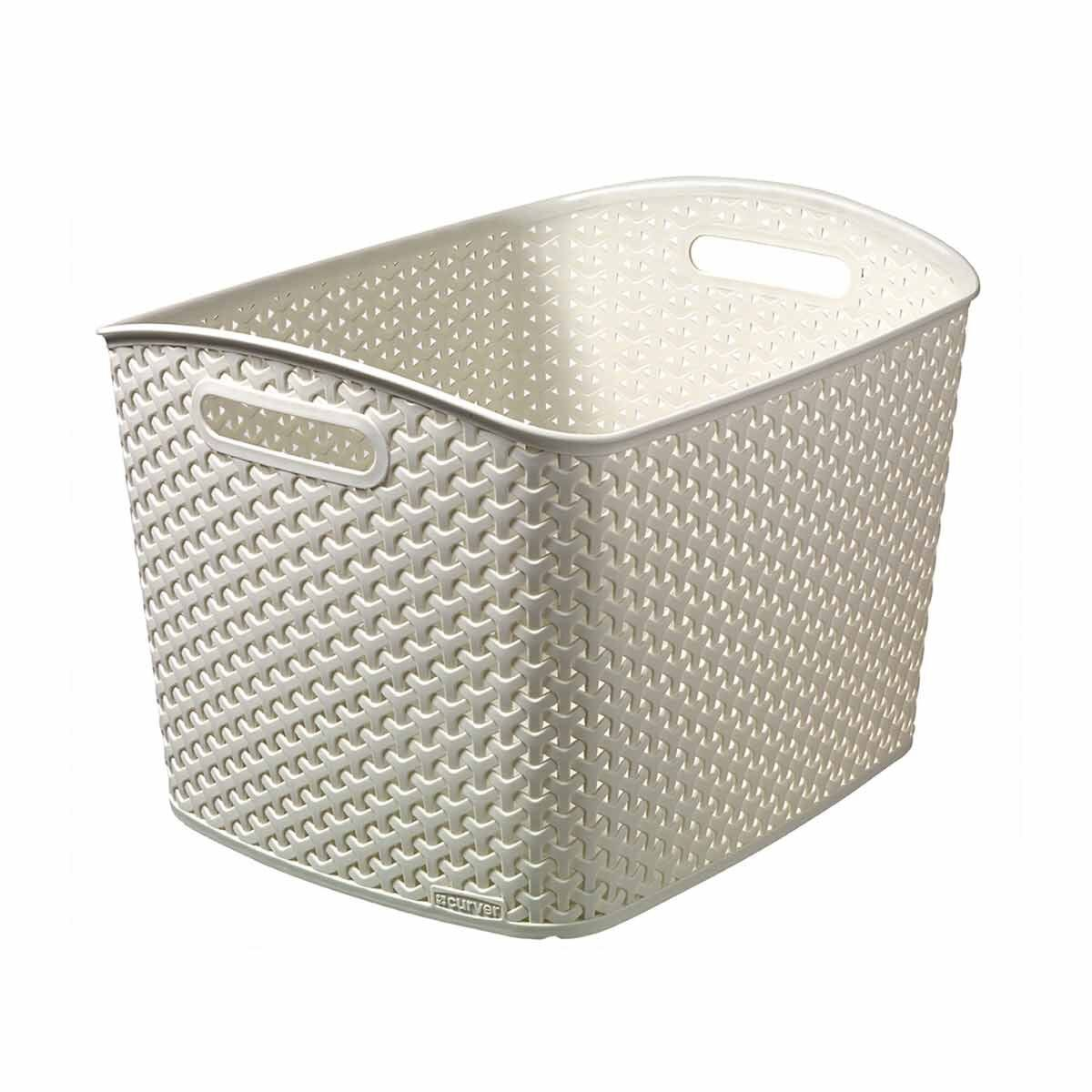 Curver My Style XL Basket 28 Litre Cream
