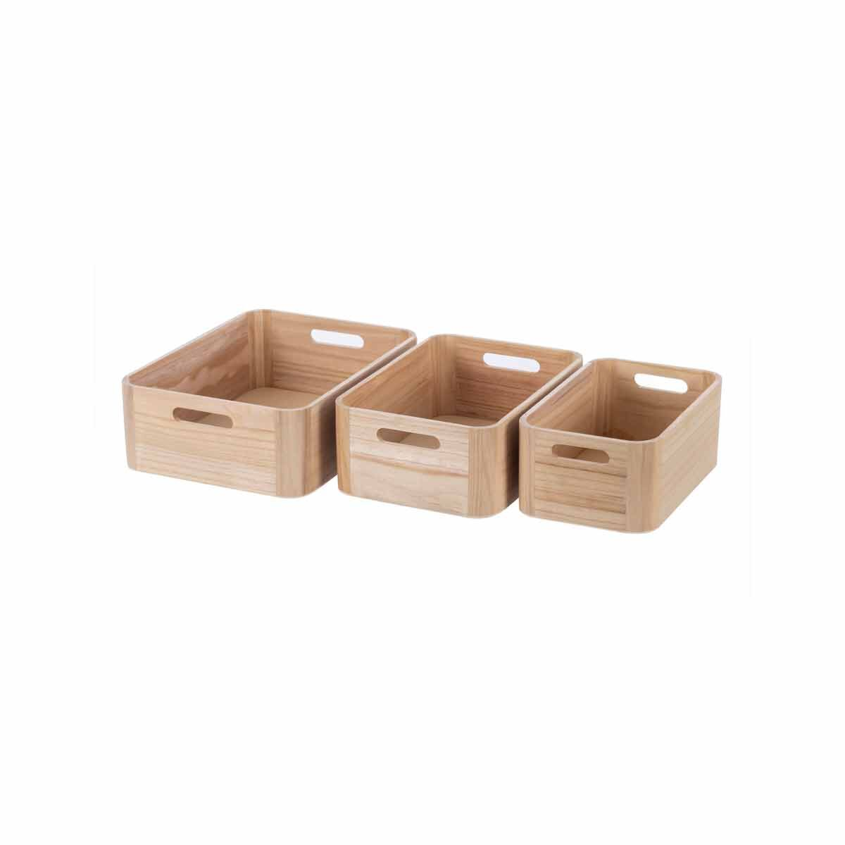 Ryman Wooden Storage Set of 3