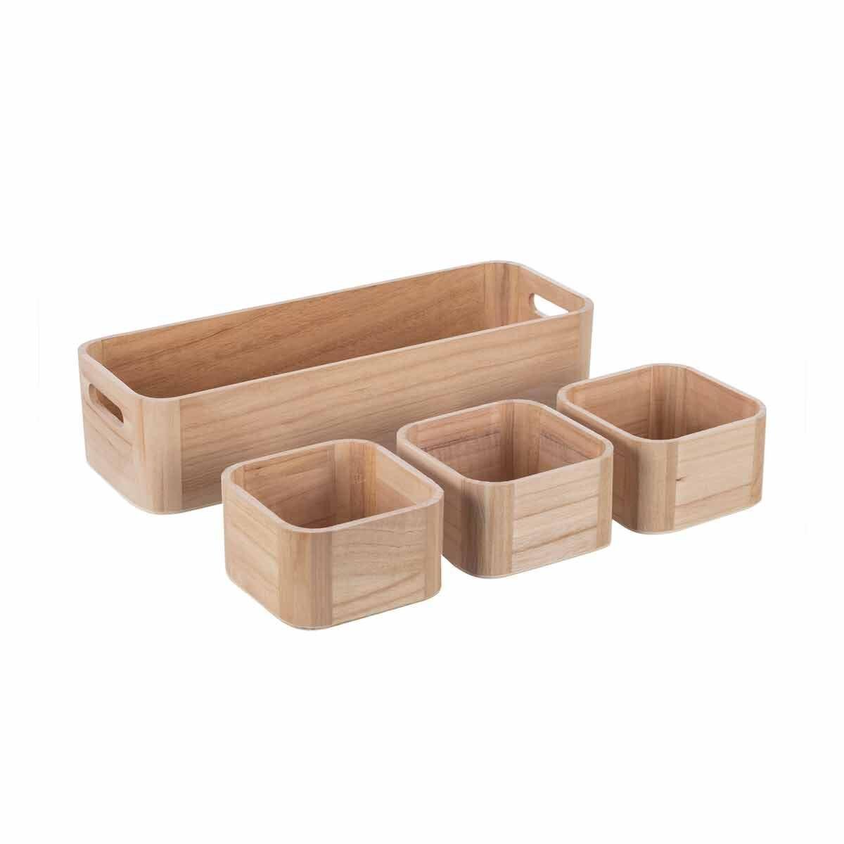 Ryman Wooden Storage Set of 4