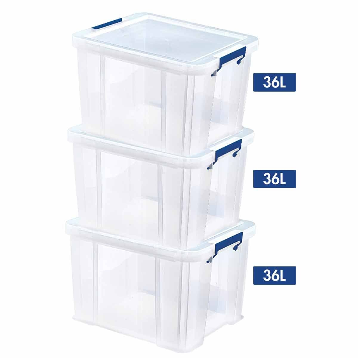 ProStore Storage Box Bonus 36L pack of 3