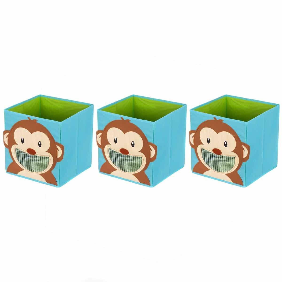 Ryman Childrens Storage Cube Monkey Pack of 3