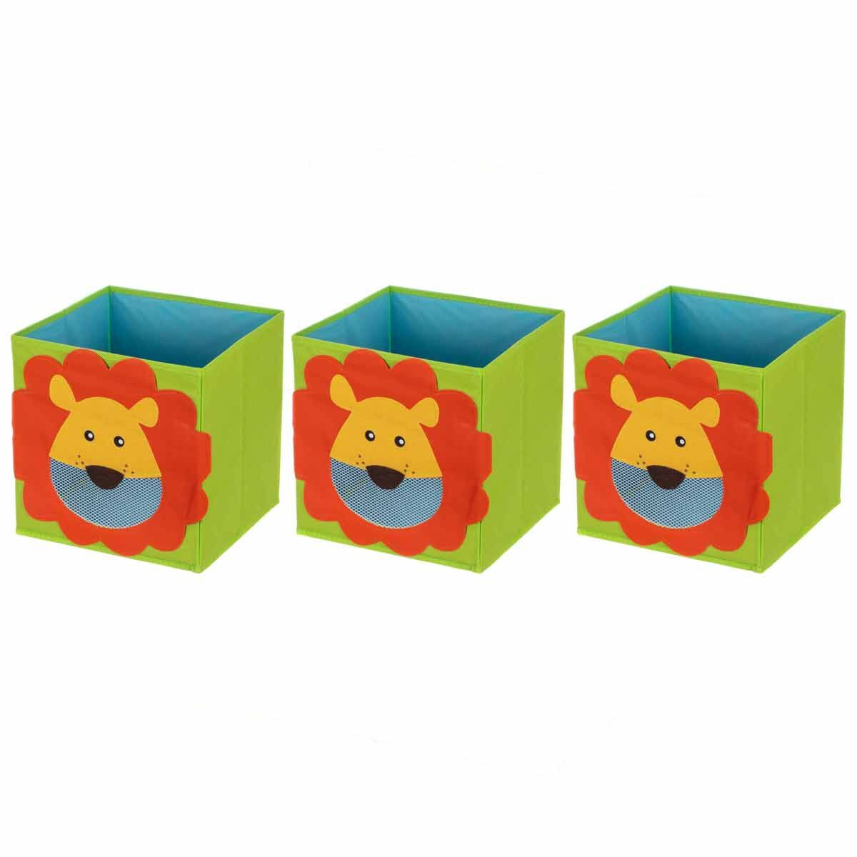 Ryman Childrens Storage Cube Lion Pack of 3