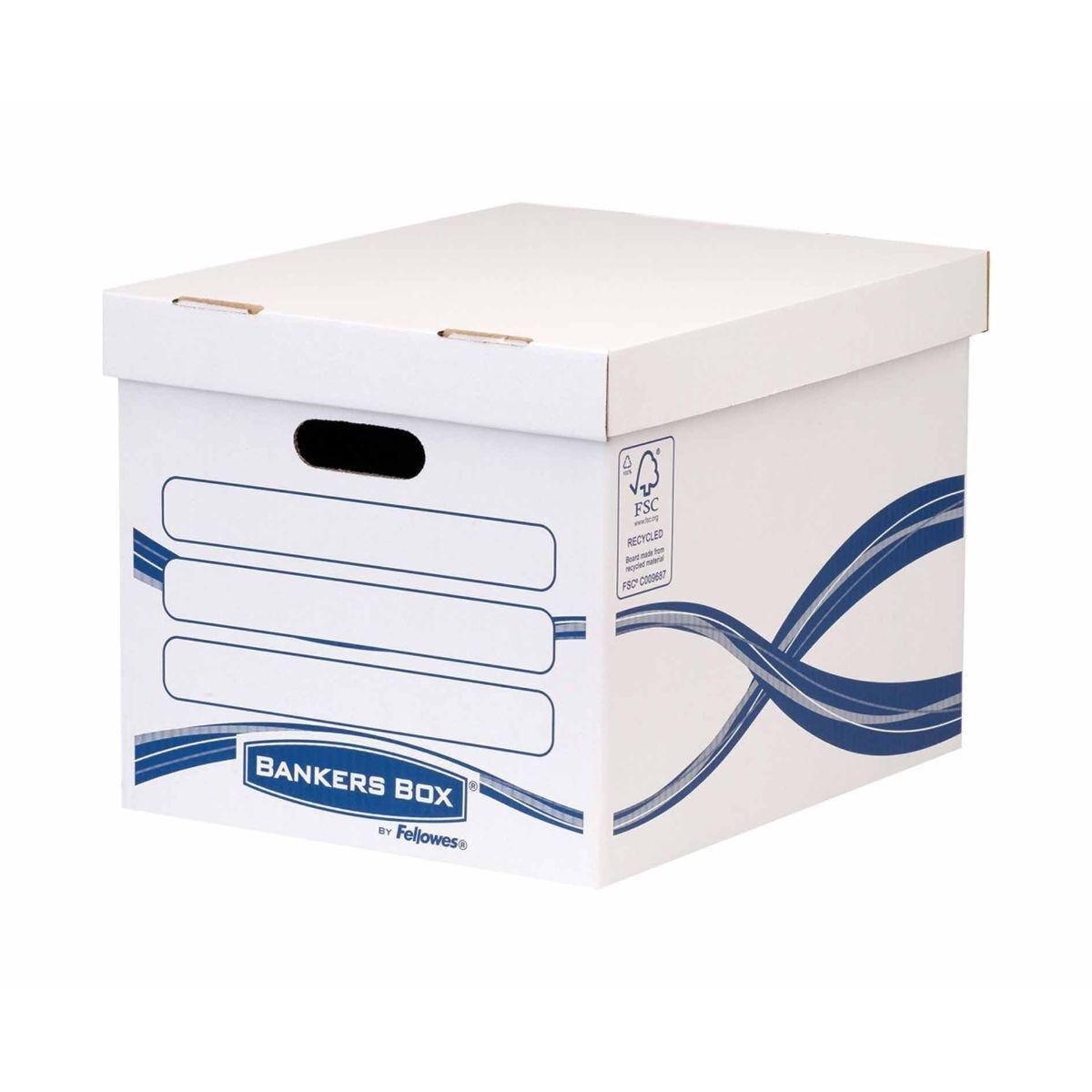 Fellowes Bankers Box Cardboard Storage Box Medium-Duty Pack of 3