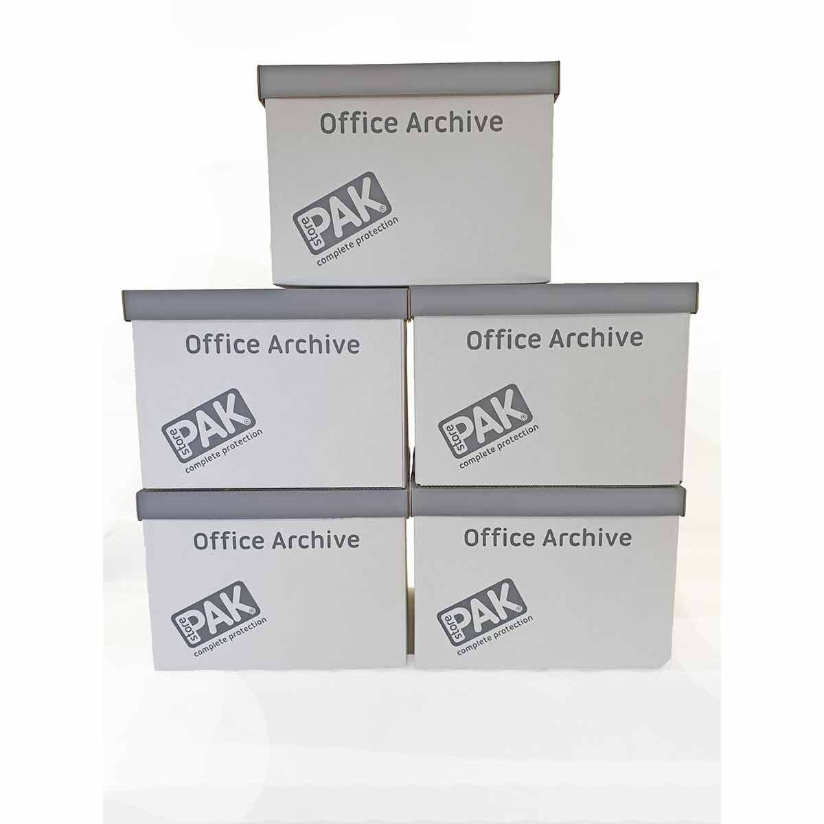 StorePAK Office Archive Box and Lid Pack of 5