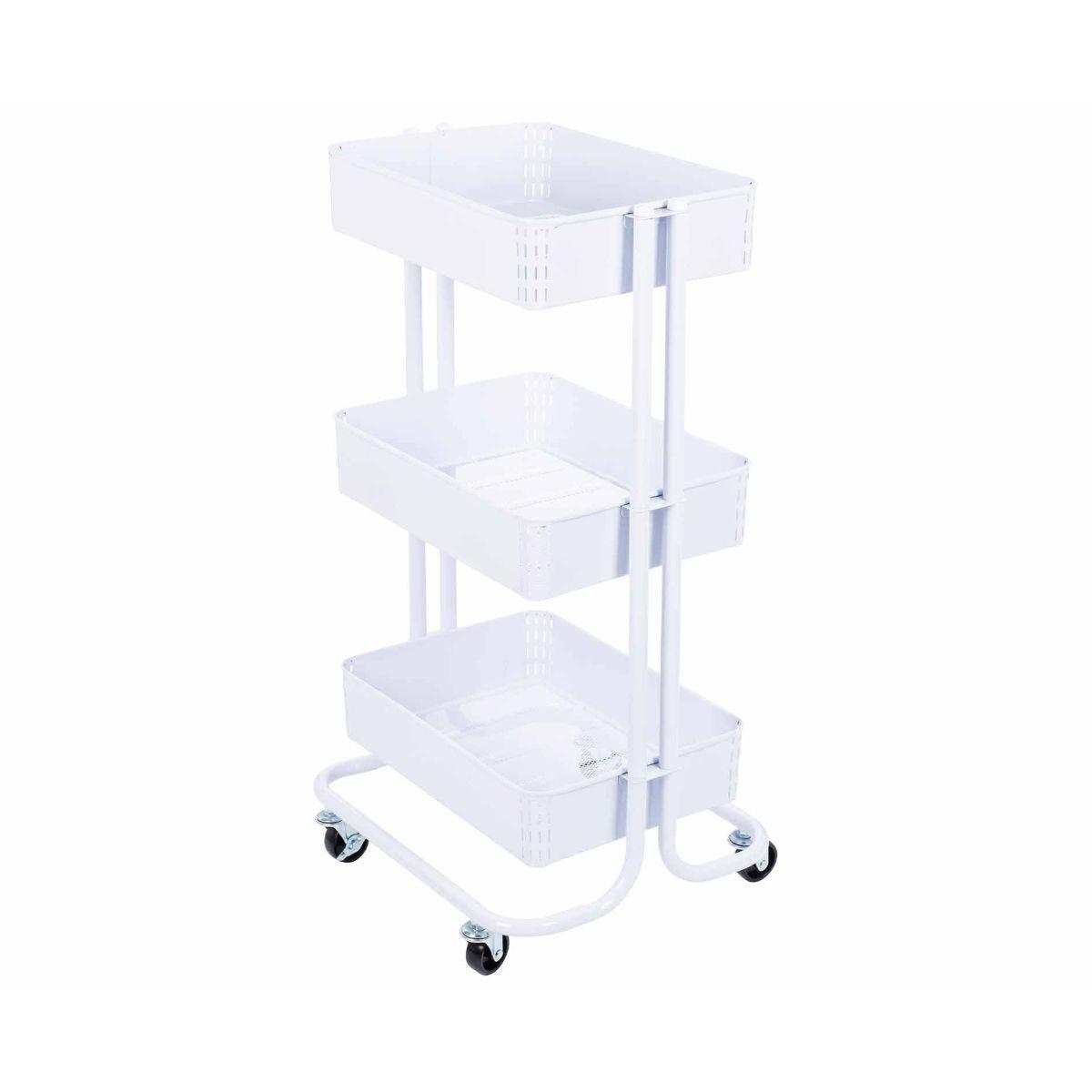 Ryman 3 Tier Storage Trolley White