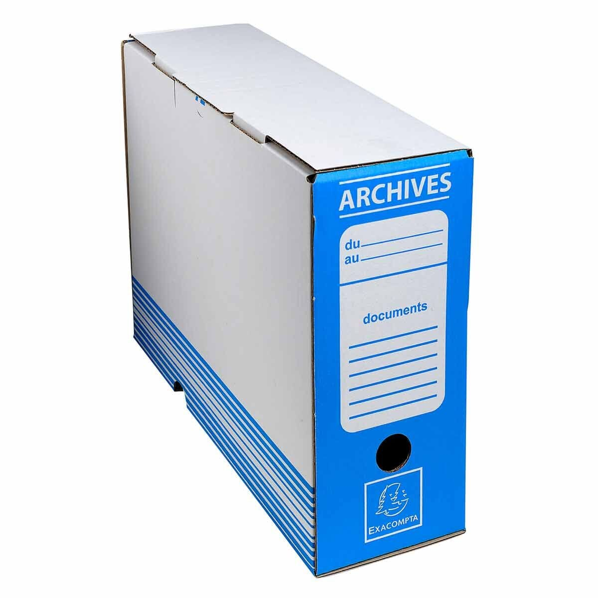 Exacompta Archive Box 100mm Spine Pack of 50 Blue