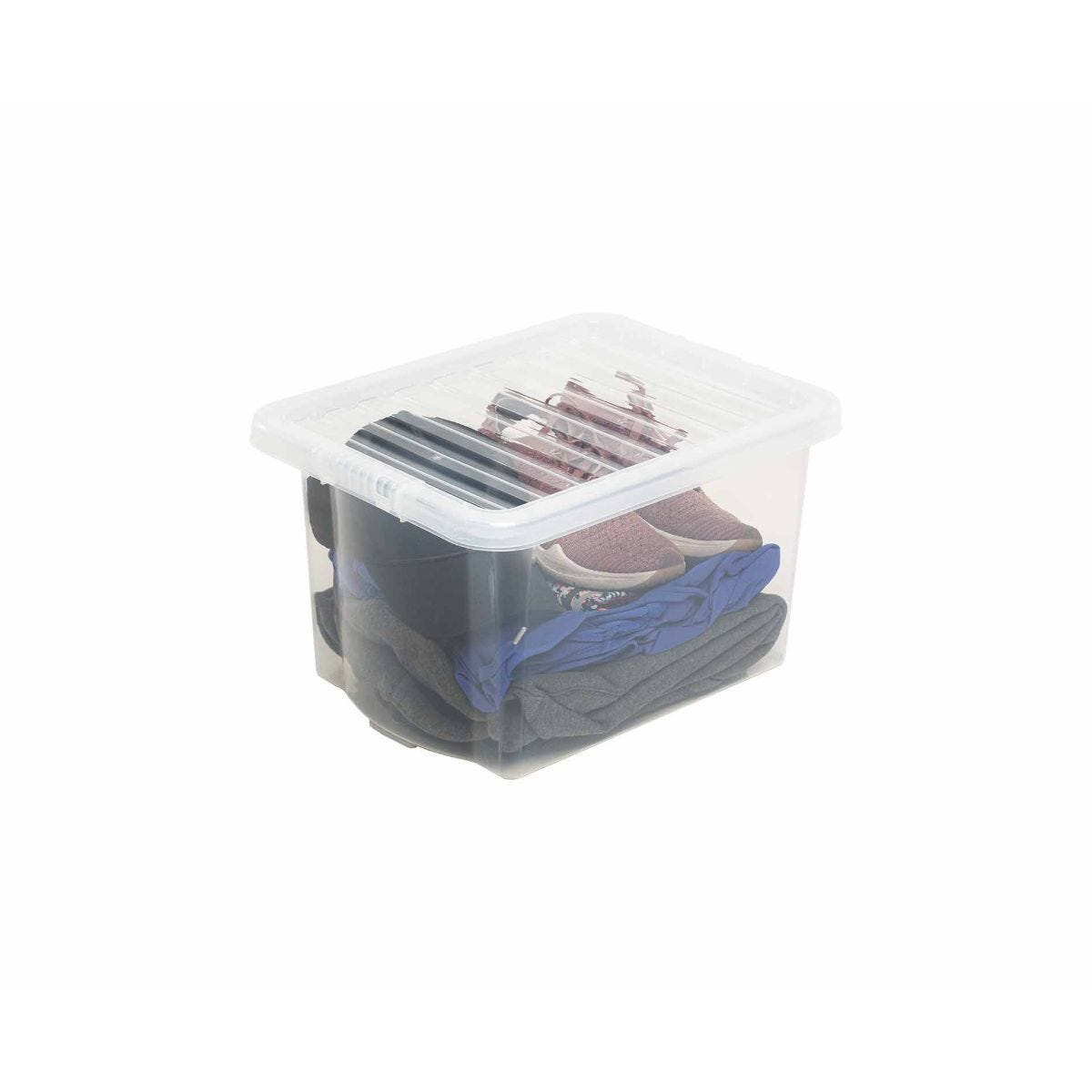 Wham Box and Lid 24 Litre Clear Pack of 3