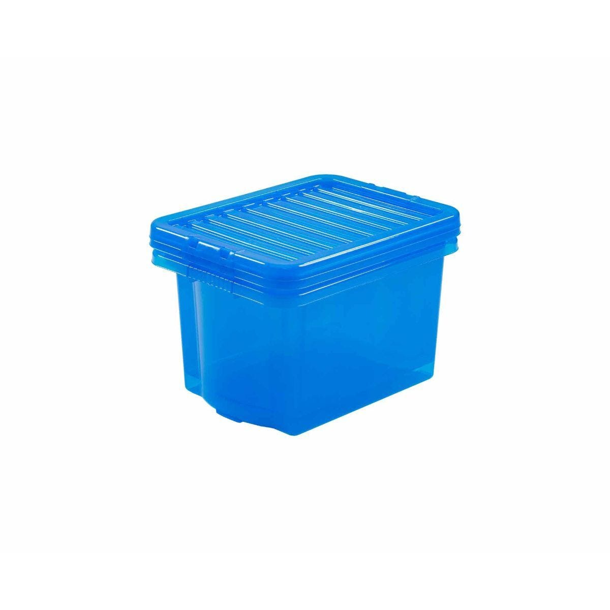 Wham Box and Lid 24 Litre Clear Pack of 3 Blue