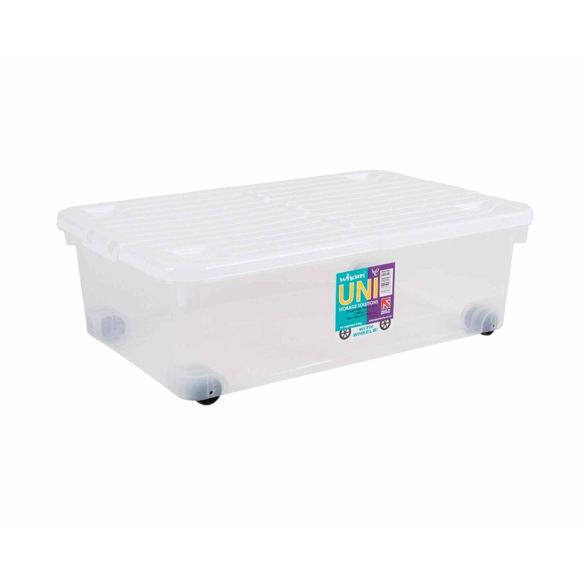 Wham Wheeled Storage Boxes 32 Litres Pack of 3