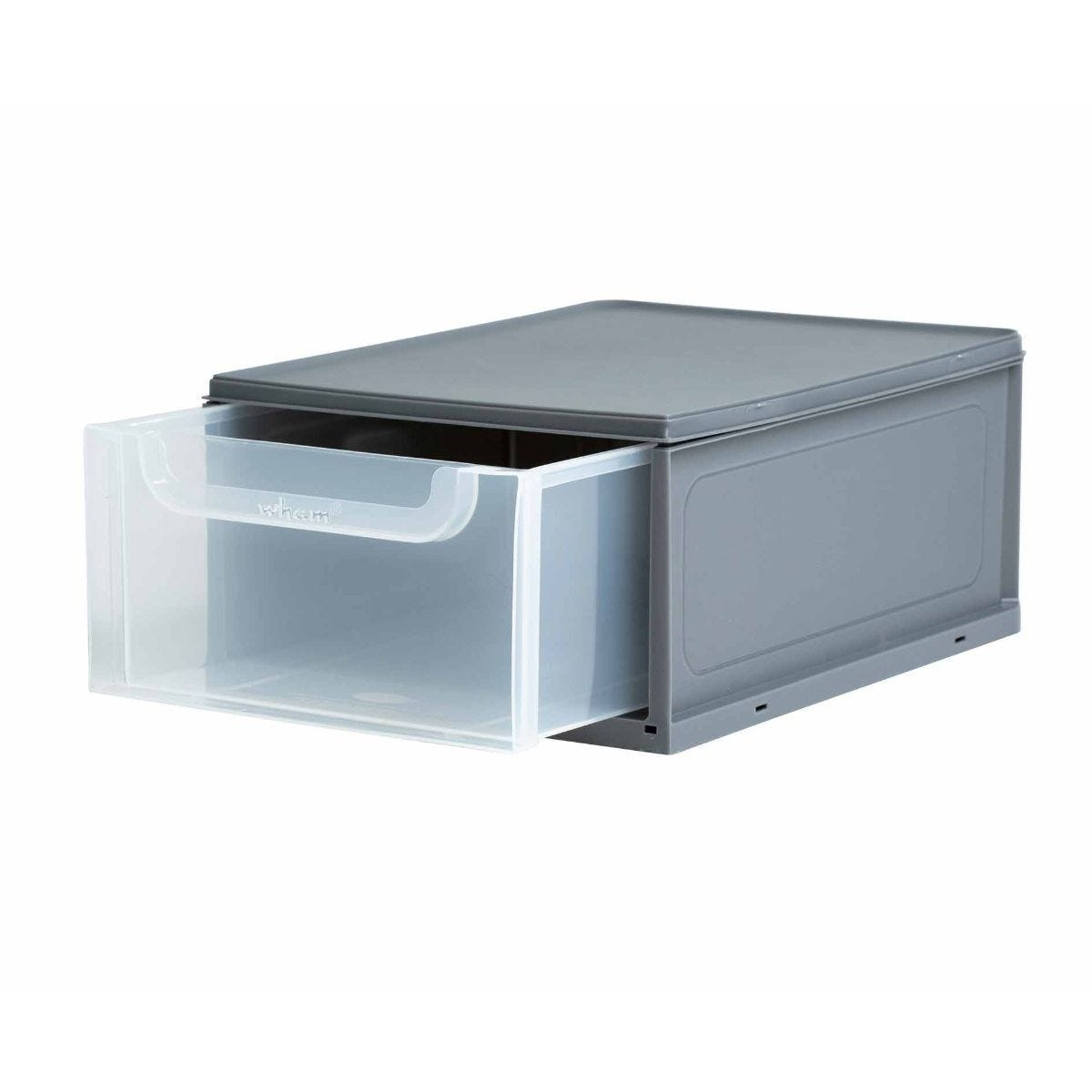 Wham Storage Drawers 8 Litre Pack of 3 Clear