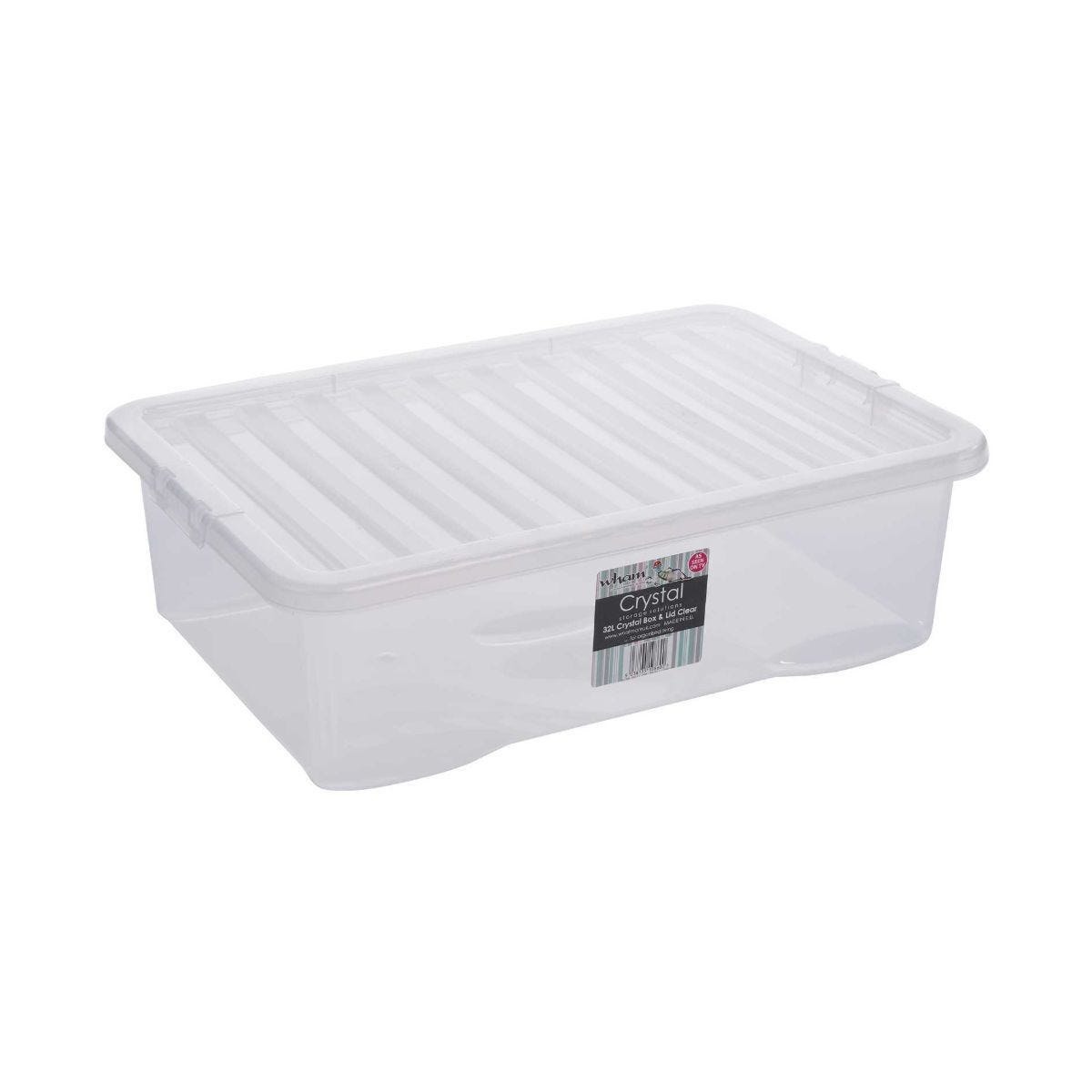 32 Litre Crystal Storage Box and Lid Single Unit