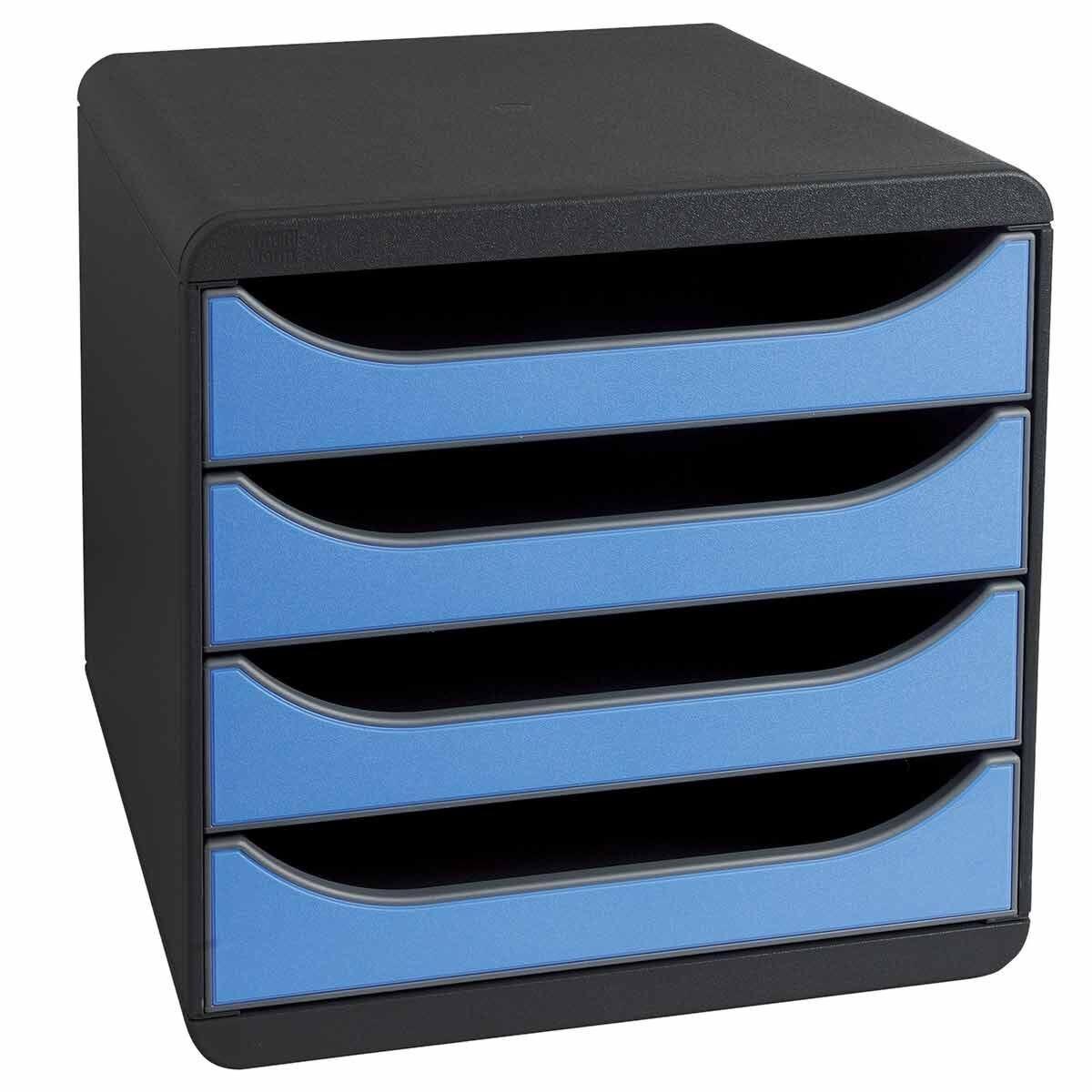 Exacompta BIG-BOX Iderama 4 Drawer Unit Ice Blue