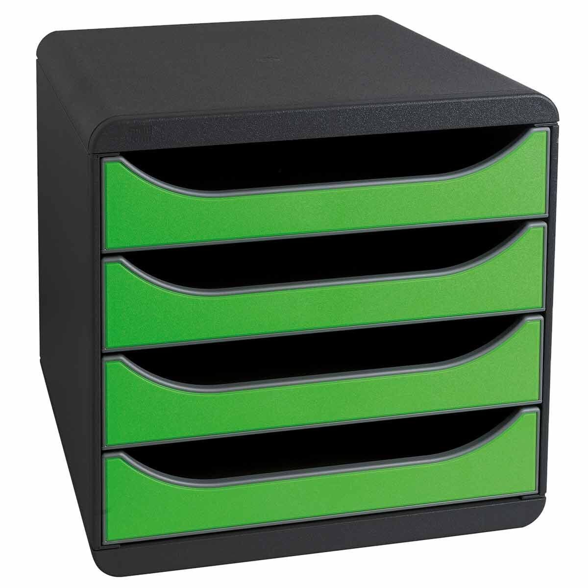 Exacompta BIG-BOX Iderama 4 Drawer Unit Apple Green
