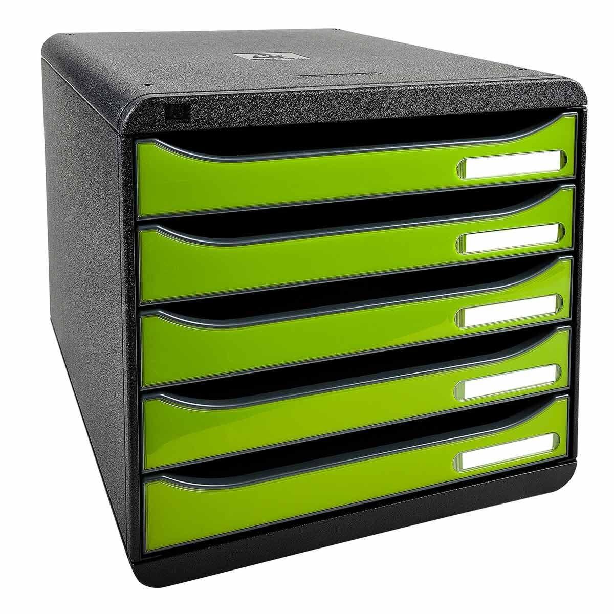 Exacompta BIG-BOX PLUS Iderama 5 Drawer Unit Green