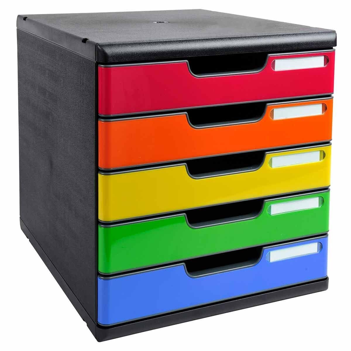 Exacompta Modulo Maxi 5 Drawer Set A4