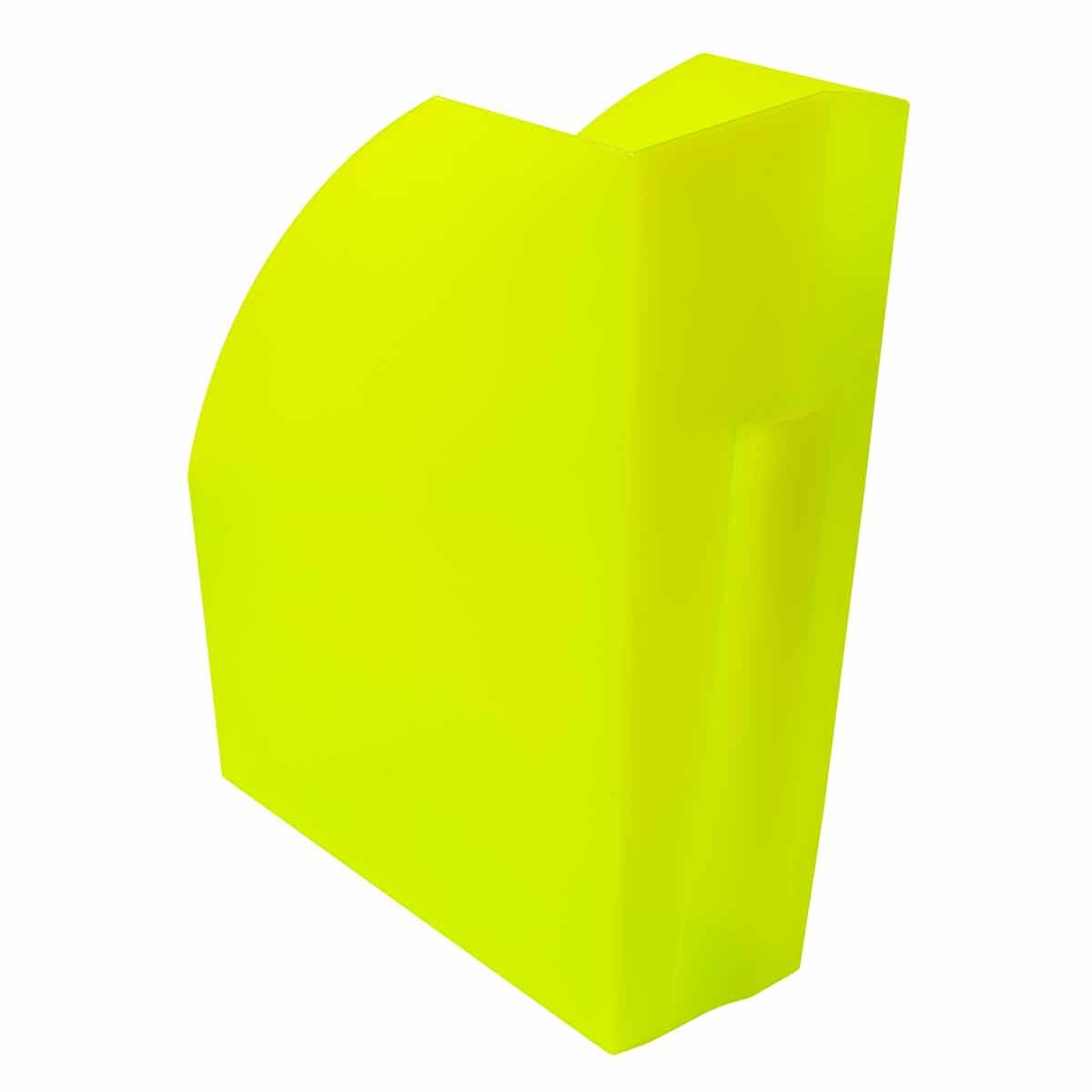 Exacompta Linicolor Magazine File Pack of 3 Lime Green