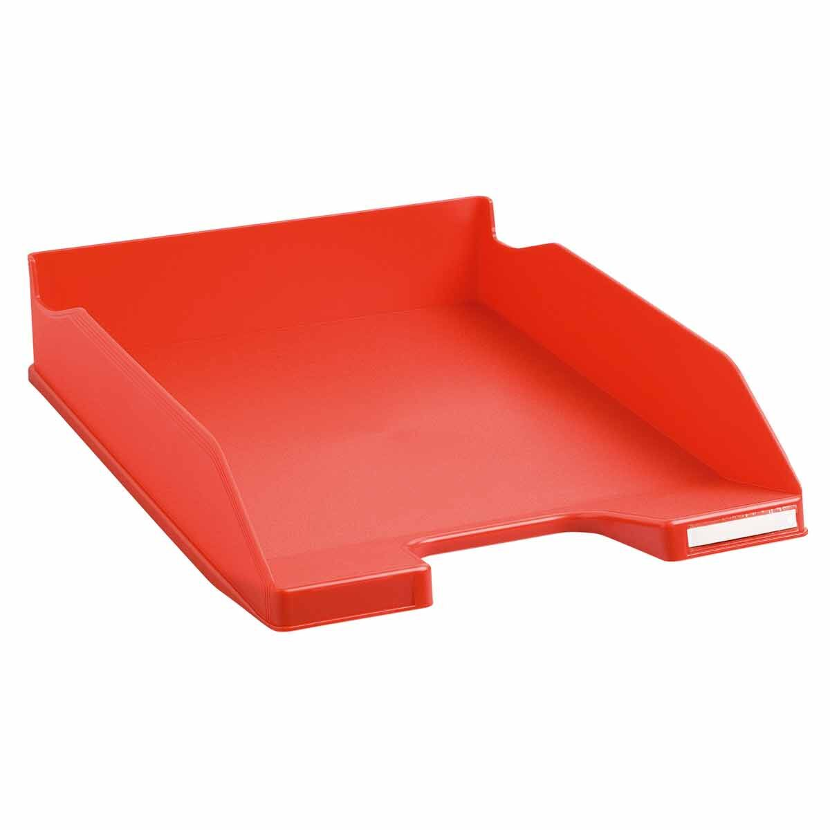 Exacompta Office Letter Tray Midi Combo Pack of 6 Matte red
