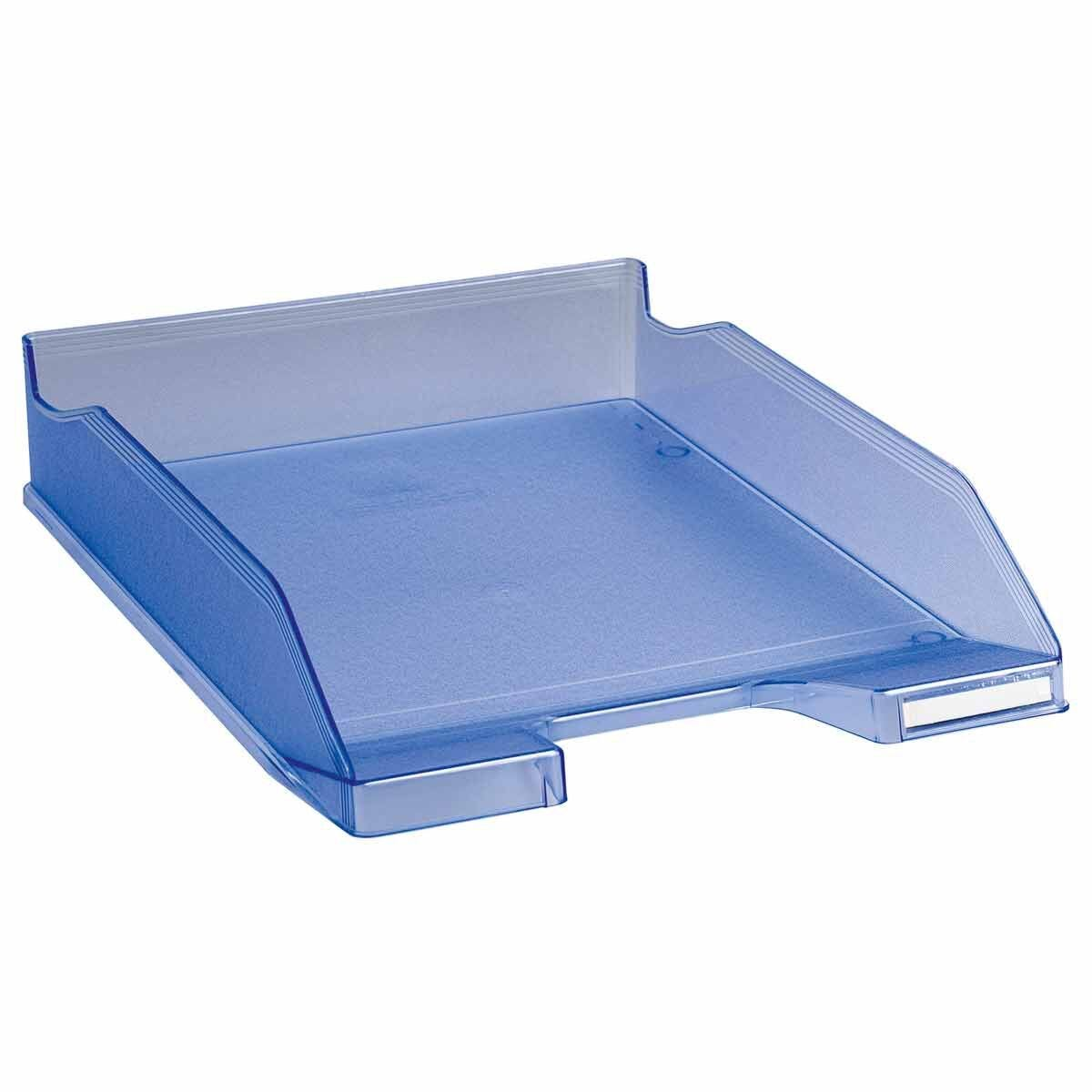Exacompta Office Letter Tray Midi Combo Pack of 6 Translucent Matte ice blue