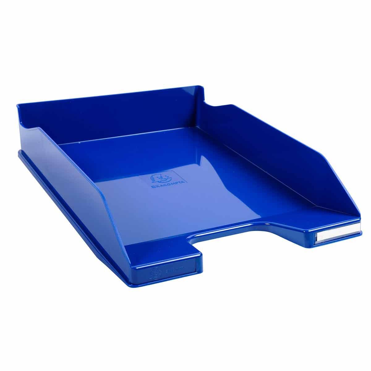 Exacompta Office Letter Tray Midi Combo Pack of 6 Gloss Ocean Blue