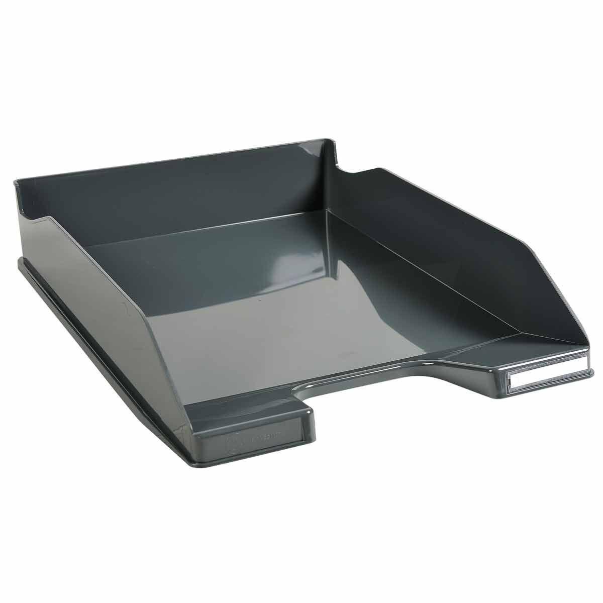 Exacompta Office Letter Tray Midi Combo Pack of 6 Gloss Grey