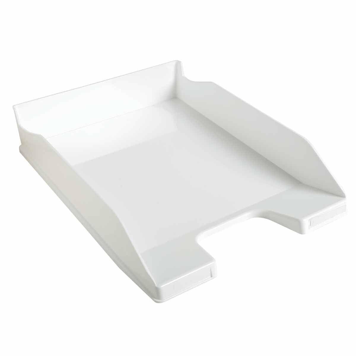 Exacompta Office Letter Tray Midi Combo Pack of 6 Gloss white