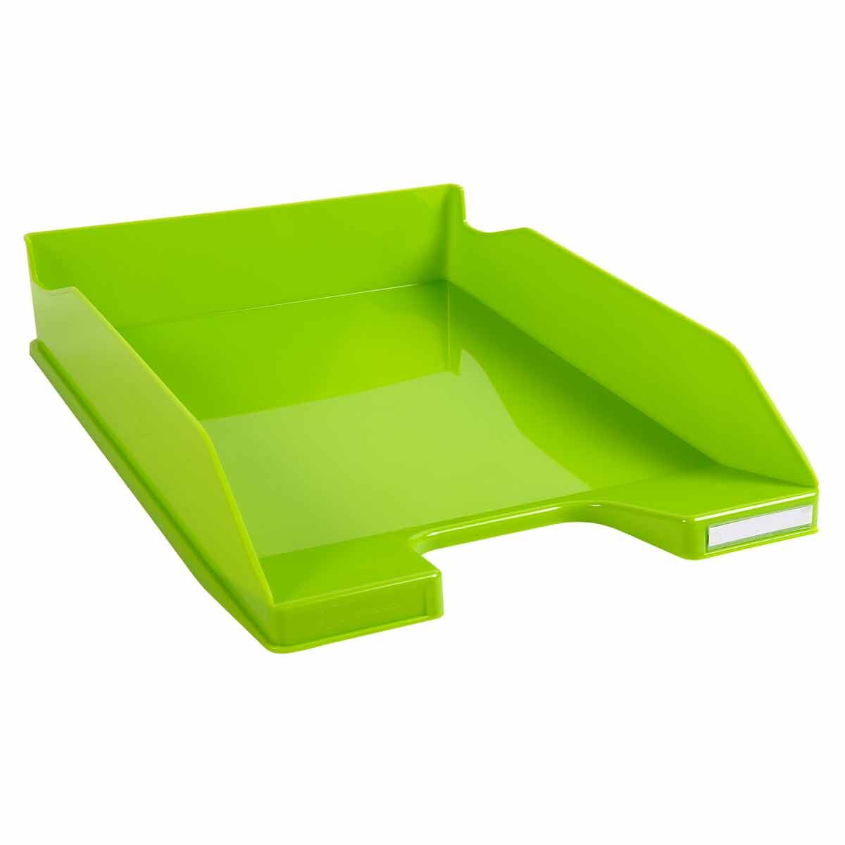 Exacompta Office Letter Tray Midi Combo Pack of 6 Gloss Lime Green