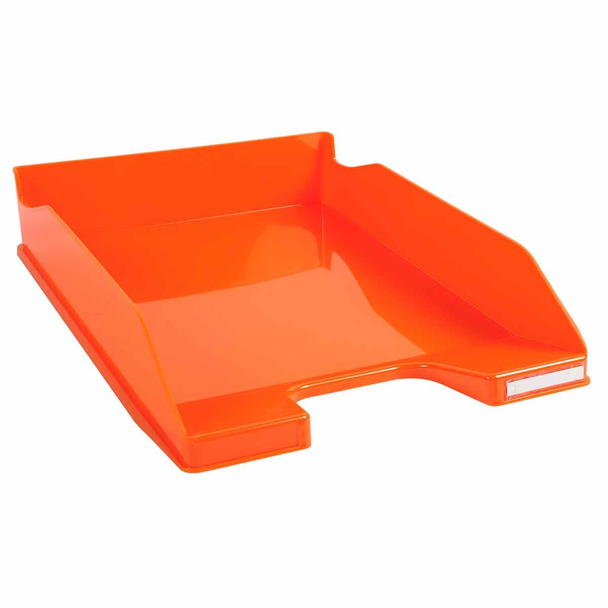 Exacompta Office Letter Tray Midi Combo Pack of 6 Gloss Orange