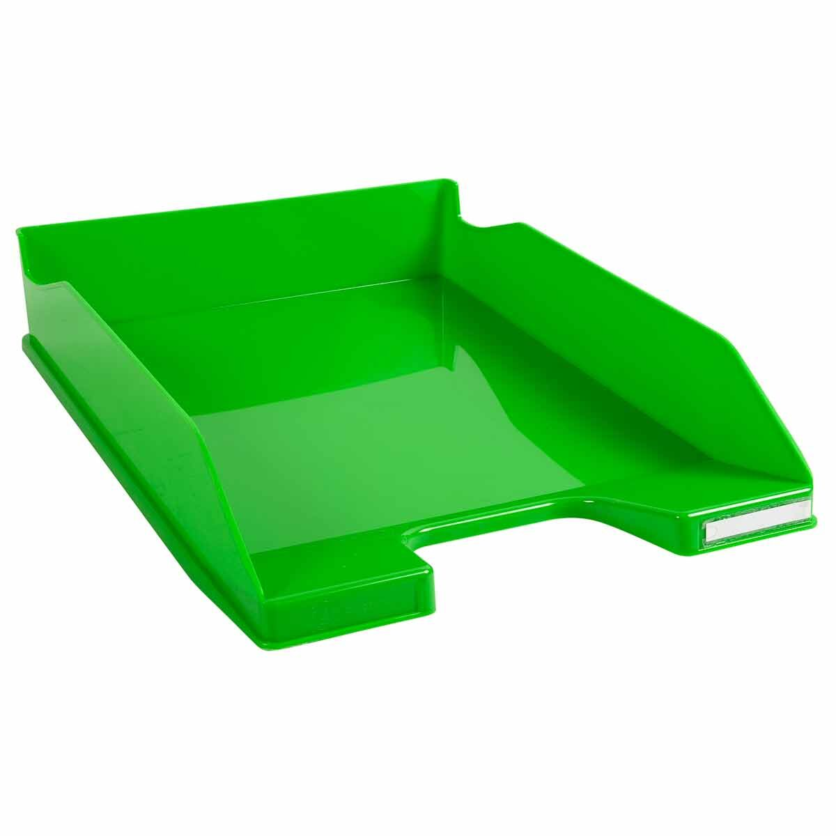 Exacompta Office Letter Tray Midi Combo Pack of 6 Gloss Apple Green