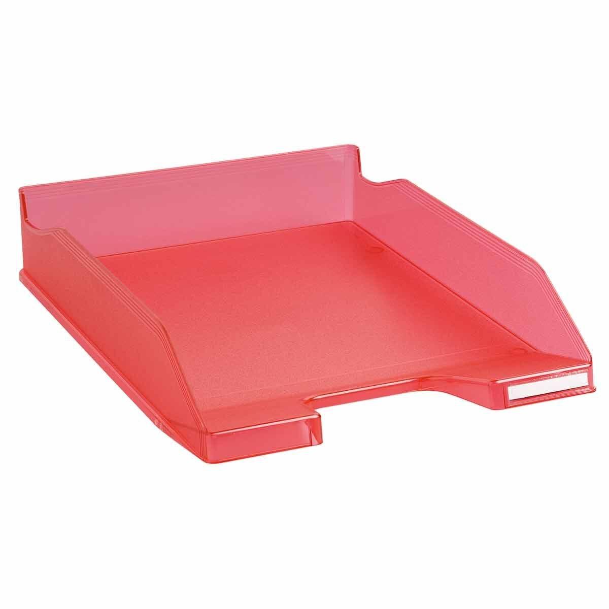Exacompta Office Letter Tray Midi Combo Pack of 6 Translucent Matte raspberry