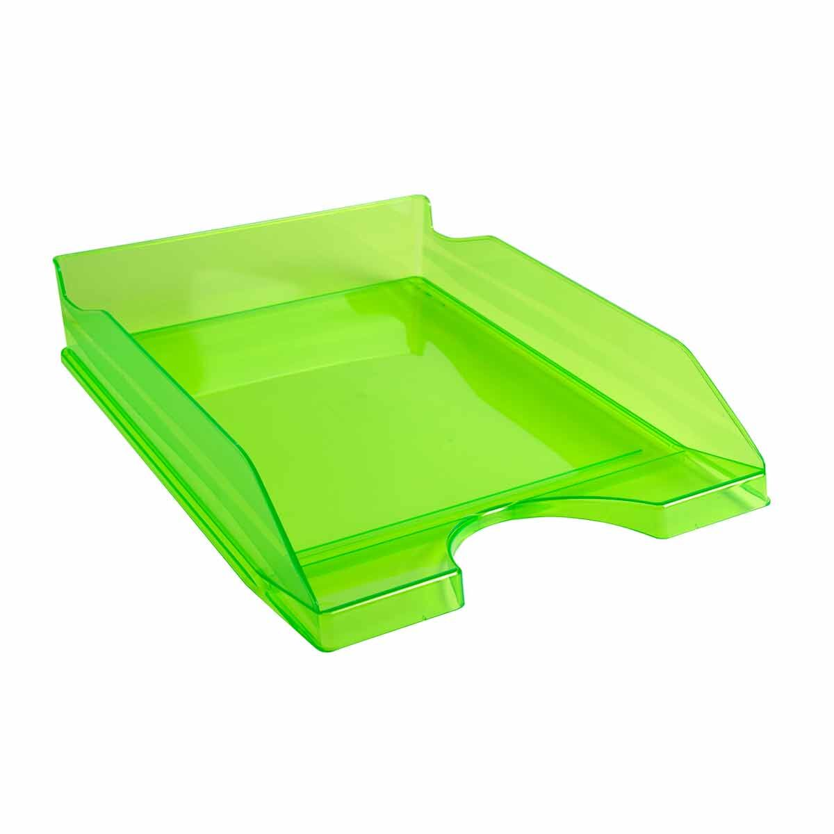 Exacompta Linicolor Eco Letter Tray Pack of 10 Apple Green
