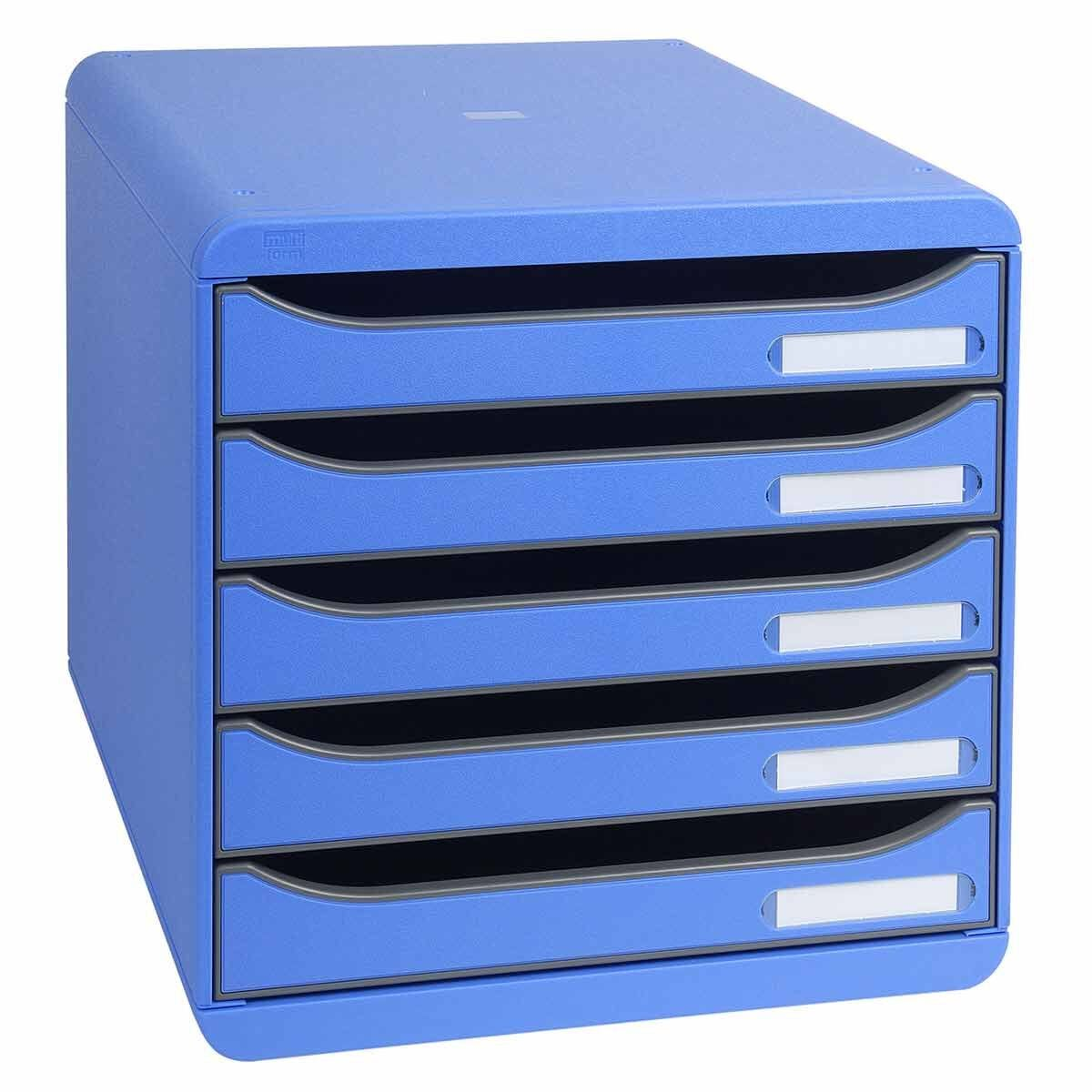 Exacompta BIG-BOX PLUS Iderama 5 Drawer Unit Ice Blue