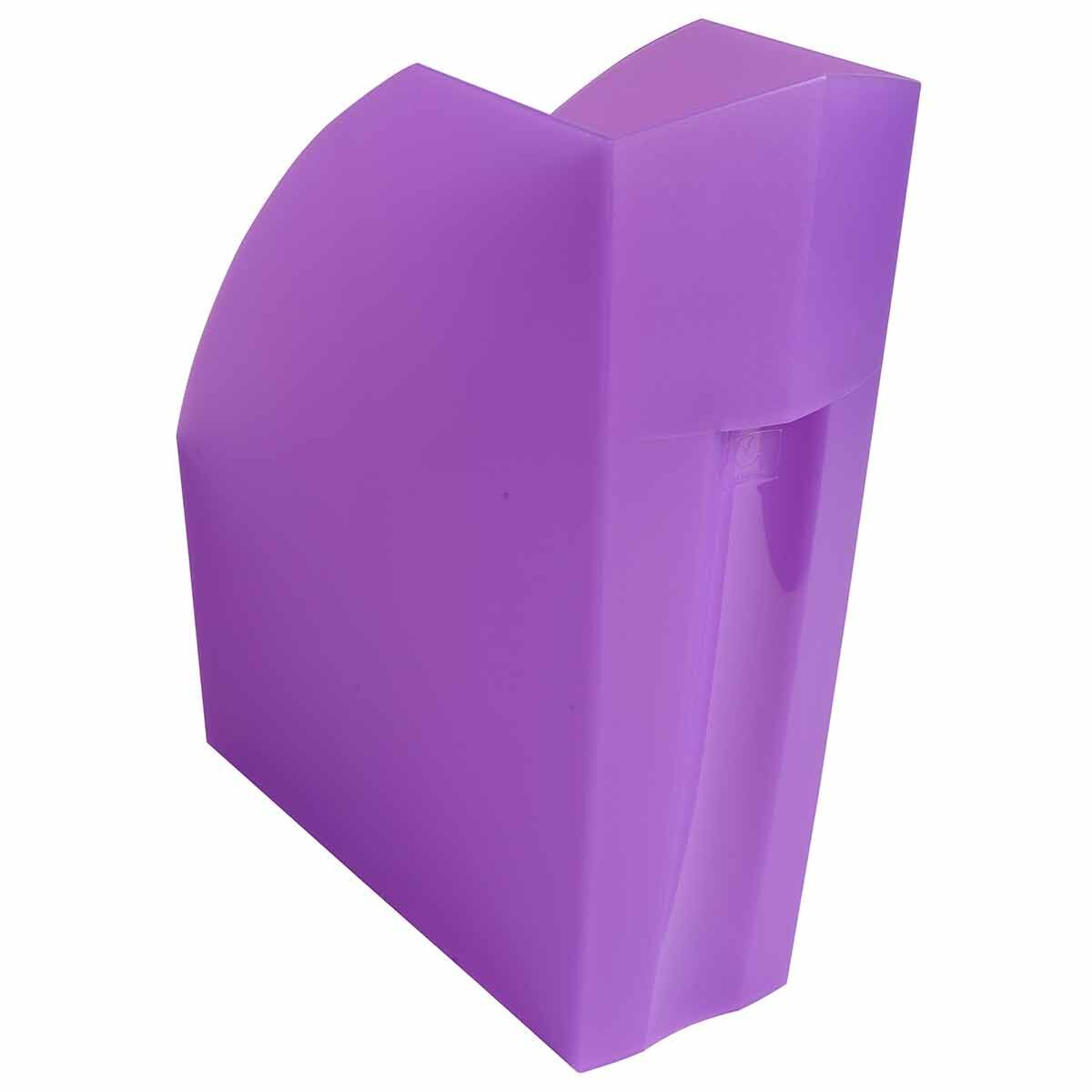 Exacompta Linicolor Magazine File Pack of 3 Purple