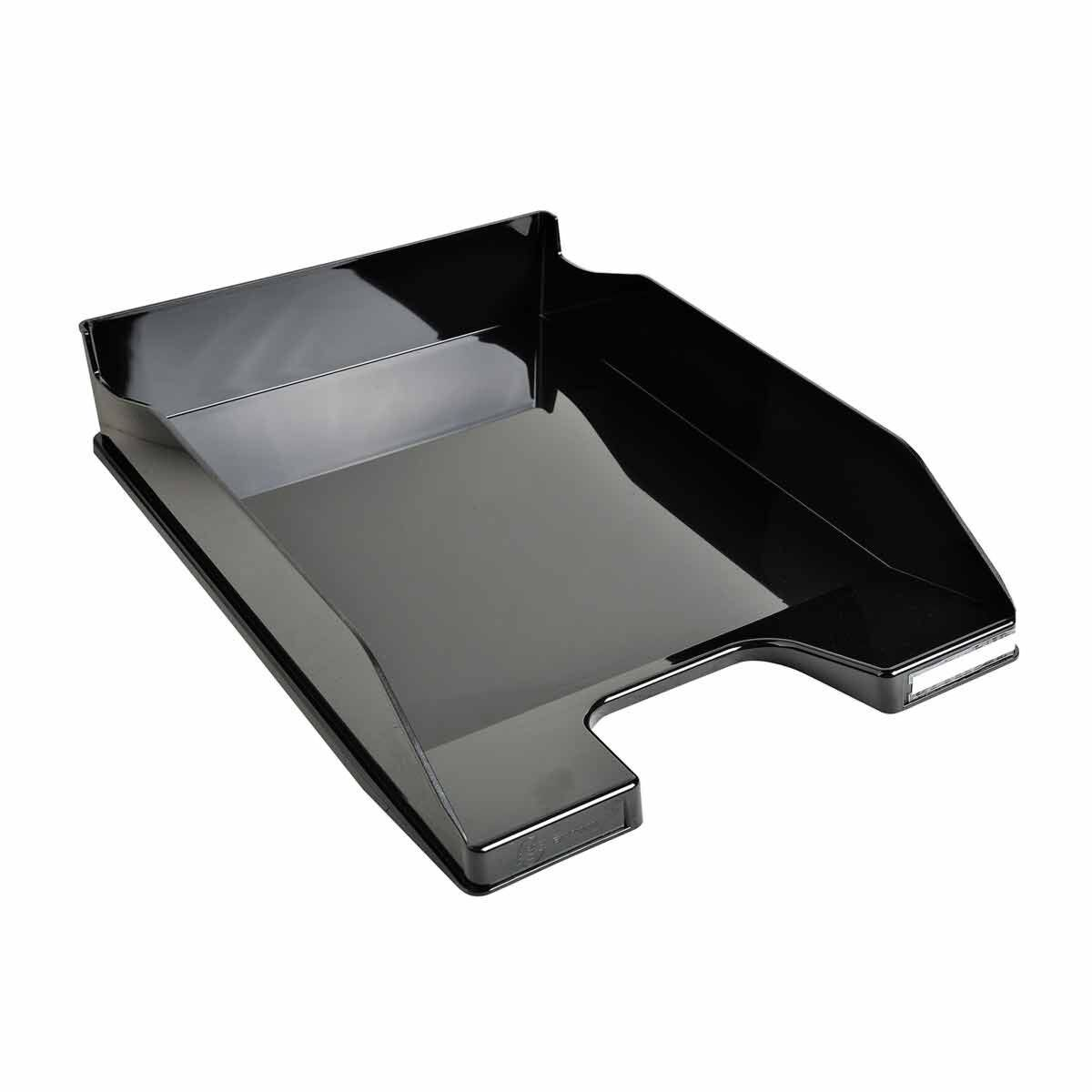 Exacompta Office Letter Tray Midi Combo Pack of 6 Gloss Black
