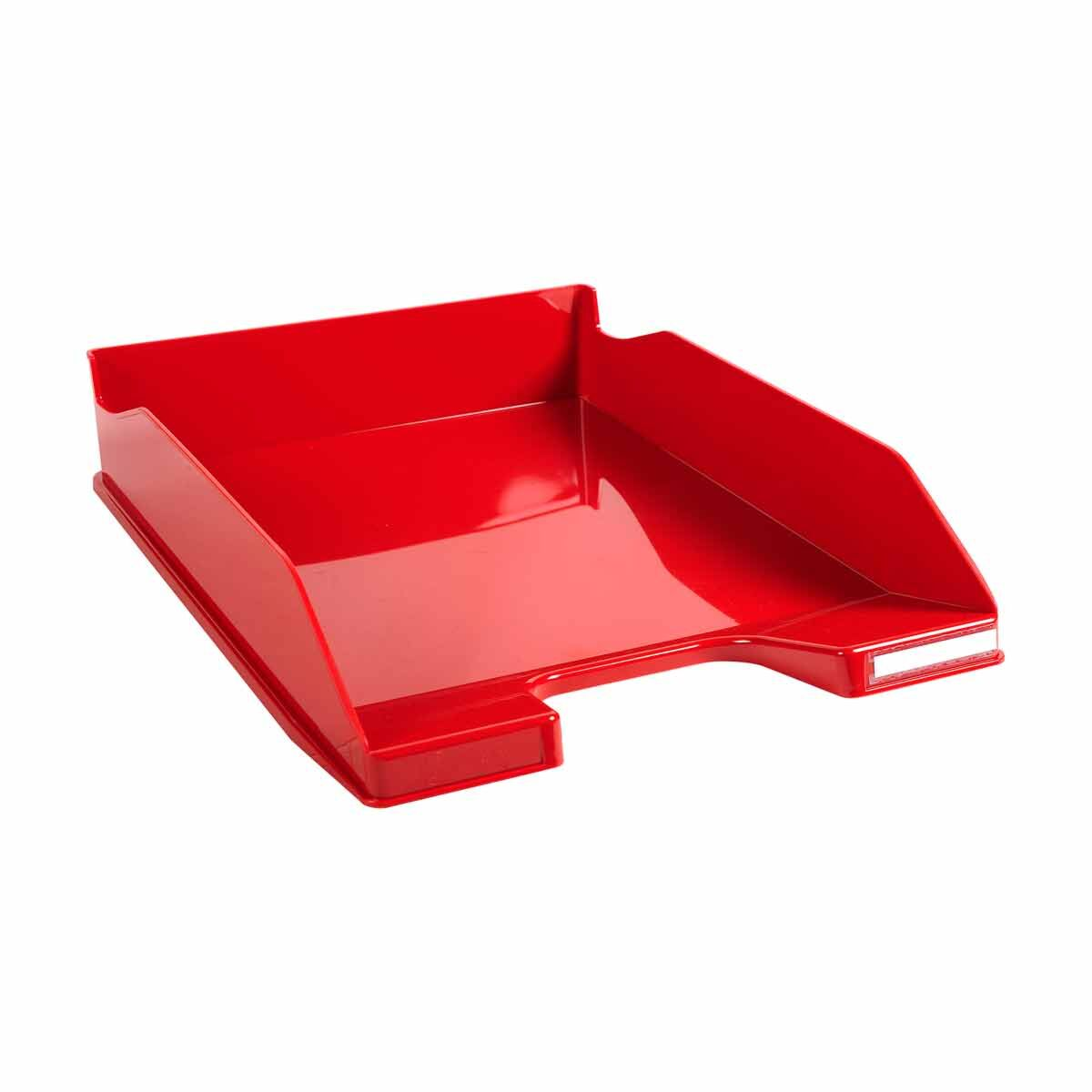 Exacompta Office Letter Tray Midi Combo Pack of 6 Gloss Red